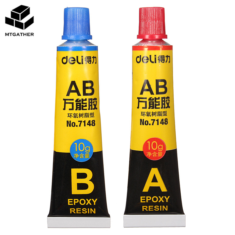 MTGATHER 2 pcs/set Epoxy Resin Contact Adhesive Super Glue For Glass Metal Ceramic Stationery Office Material 6703 Easy To Use 12 pcs cyanoacrylate quick dry adhesive strong bond fast 502 super liquid glue for leather rubber metal home office school tool