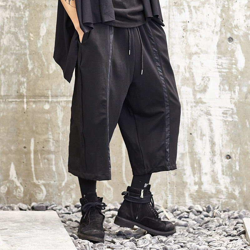 Men Pants Hanger Pants In Turkey Independent Design New Japanese Loose Stitching Men's Casual Pants Nine Points Collapse Pants