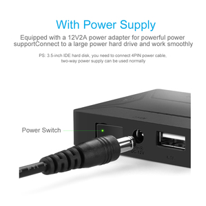 Image 4 - USB 3.0 to SATA IDE External Hard Drive Converter for 2.5 & 3.5 inch HDD SDD IDE Adapter(EU plug)