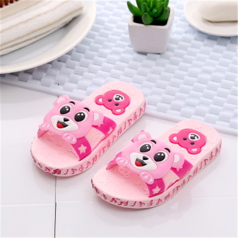 2017 Fashion Cute kids Sandals Summer Children baby boys girls slippers caterpillar animal cartoon style EVA child Shoes slipper