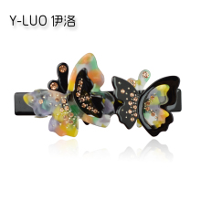 купить Women hedwear 2018 cute hair clip for girls butterfly hair barrettes rhinestone hair accessories for women по цене 469.46 рублей