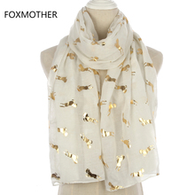 FOXMOTHER New Design Fashion Shiny Metallic White Pink Grey Foil Gold Glitter Running Horse Scarf Womens стоимость