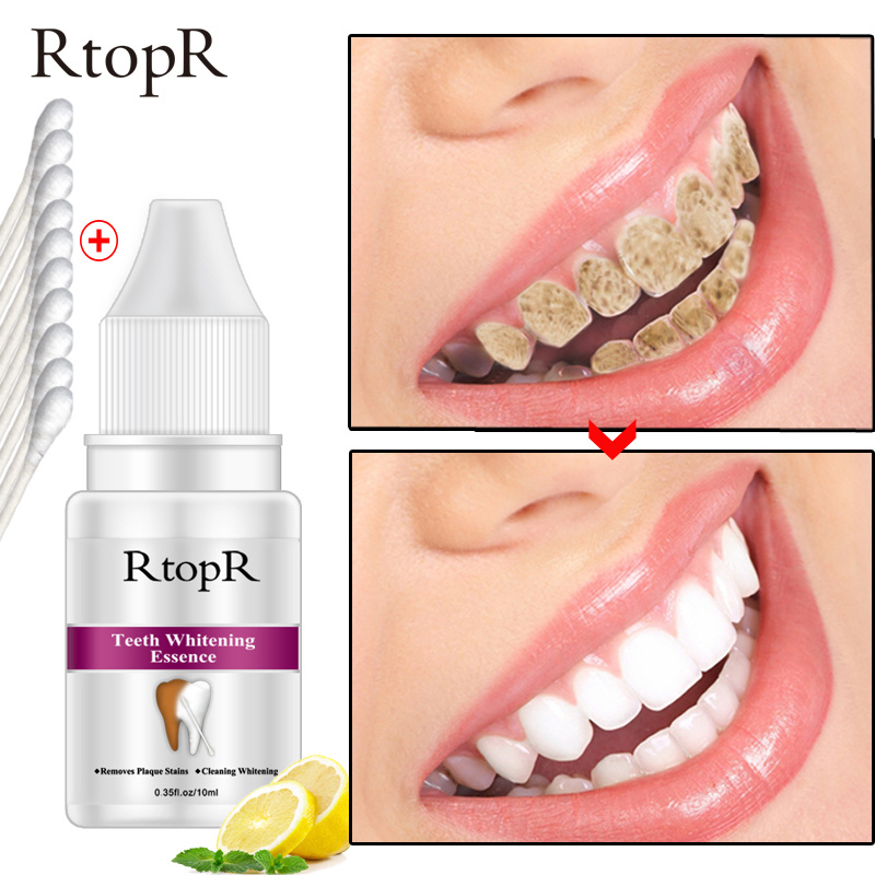 RtopR Teeth Oral Hygiene Essence Whitening Essence Daily Use Effective Remove Plaque Stain Cleaning Product Teeth Cleaning TSLM1