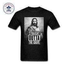 Christian T-Shirt  Jesus Portrait Straight Outta The Grave