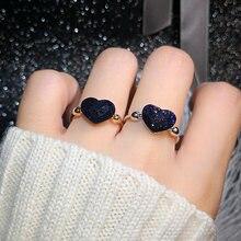 Moonrocy хрустальные кольца в форме сердца Прямая поставка голубые