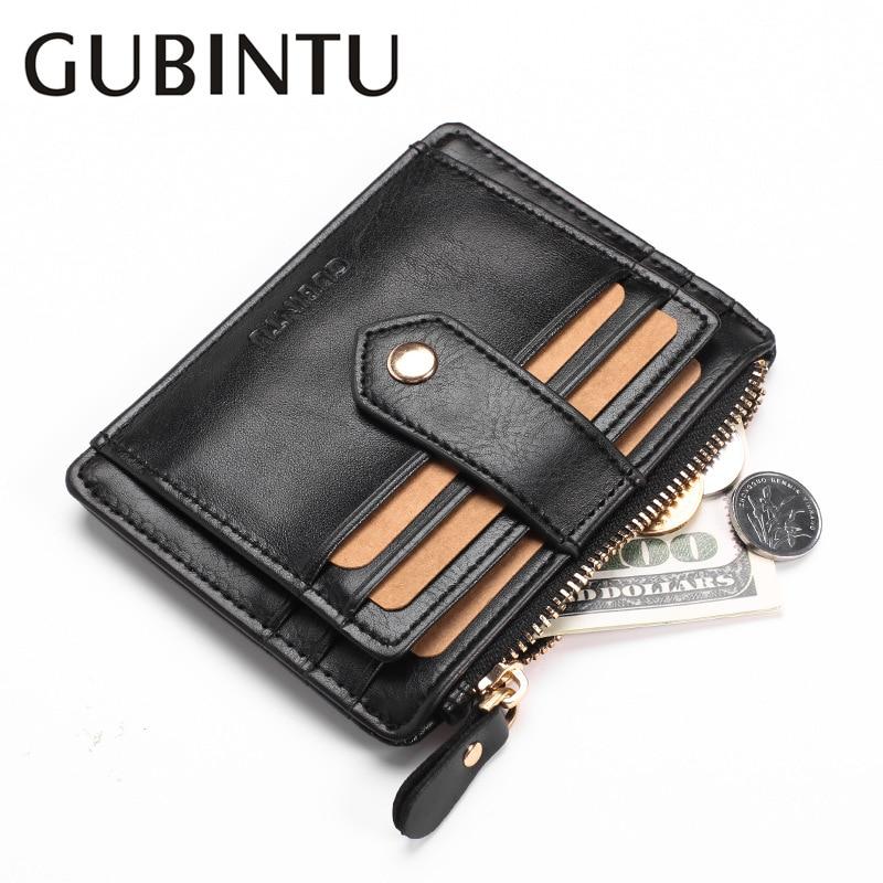 GUBINTU Designer Business Men Wallet Brand Card Holder Wallet with Zipper Coin Pocket Carteira Masculina--BID071 PM49 frank buytendijk dealing with dilemmas where business analytics fall short