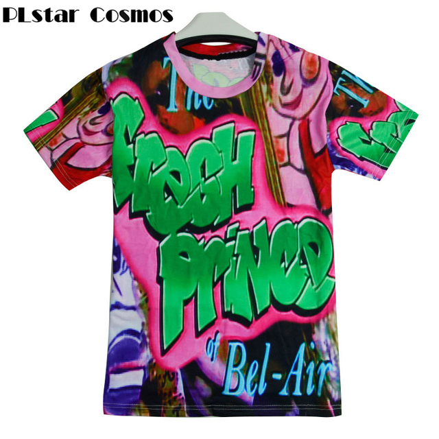 70d72fdfc PLstar Cosmos Summer Style T-shirts So Fresh Will Smith T-Shirt Sexy Fresh  Prince of Bel Air 3d print Women Men hip hop t shirt