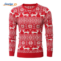 Covrlge Christmas Sweater Men 2017 Winter New Year S Sweaters Funny Deer Print Pullover Fashion Ugly