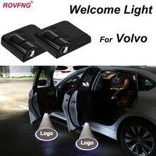 ROVFNG Bem-vindo Carro Levou Luz Da Porta Para Volvo XC90 XC60 XC70 960 C30 C70 S40 S60 S70 S80 V40 V50 v60 V70 V90
