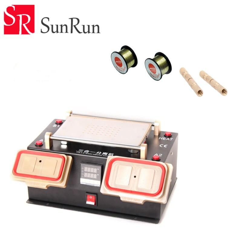 3 en 1 Multifonction Station De Préchauffage + Lunette Moyen Cadre Séparateur Machine + Vide LCD Séparateur pour Samsung LCD Rénover