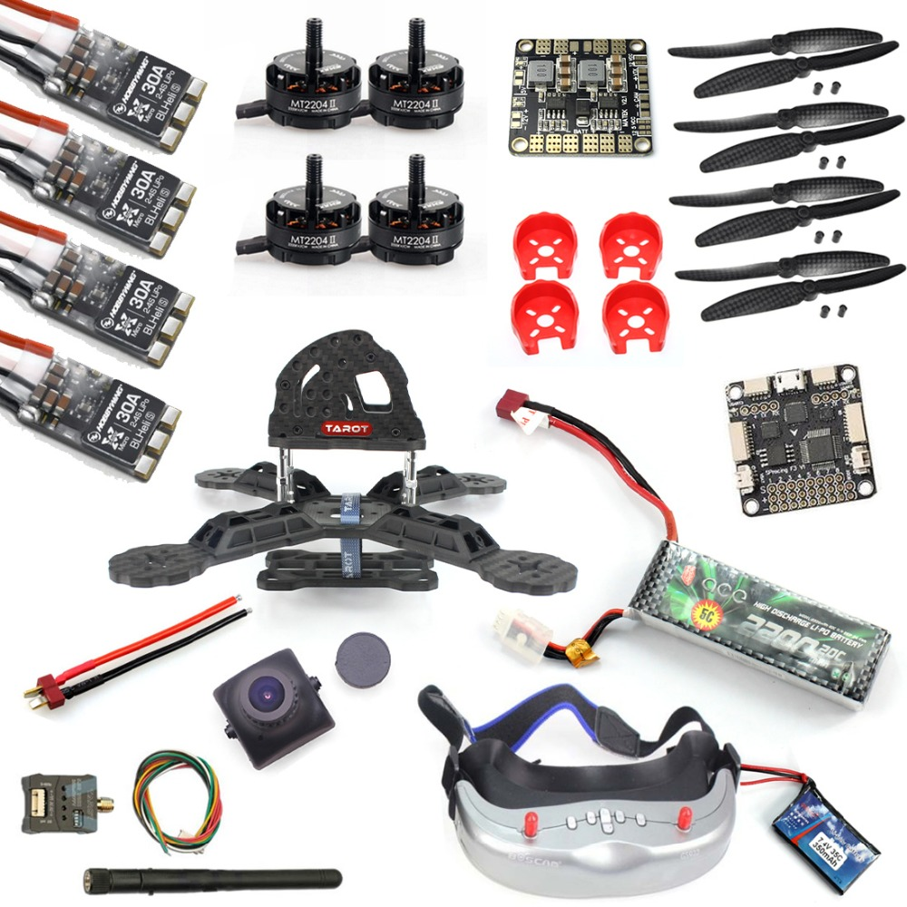 DIY RTF Racer 190 FPV Drone F3 Flight Controller Camera GOGGLE Glass RC Multicopter Helicopter diy rtf racer 190 fpv drone f3 flight controller fs i6 transmitter camera hd monitor rc multicopter helicopter