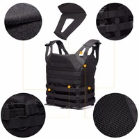 Airsoft 1000D Molle Tactical Vest Military Chest Protective Amphibious Pockets Plate Carrier Paintball Wargame TW VT01