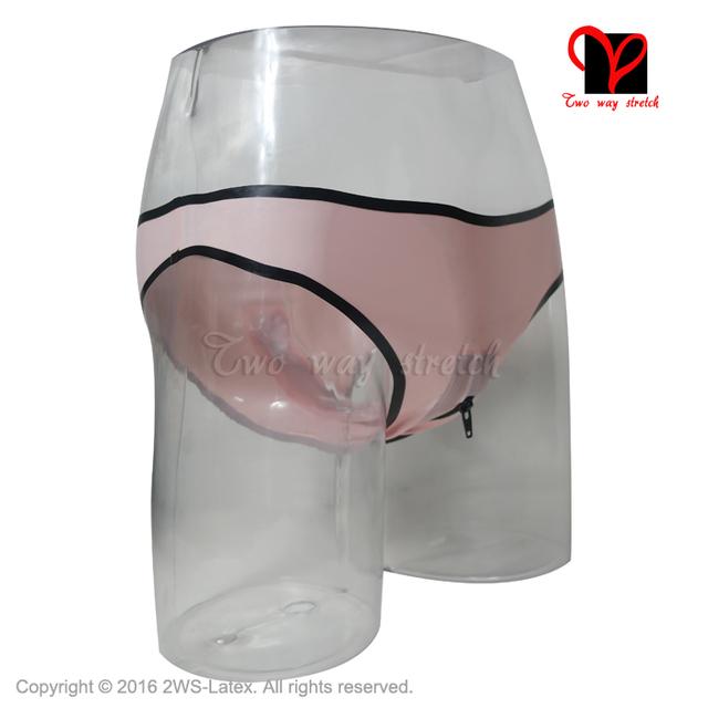 Sexy Latex lingerie Crotch Zipper trims Fetish Bondage