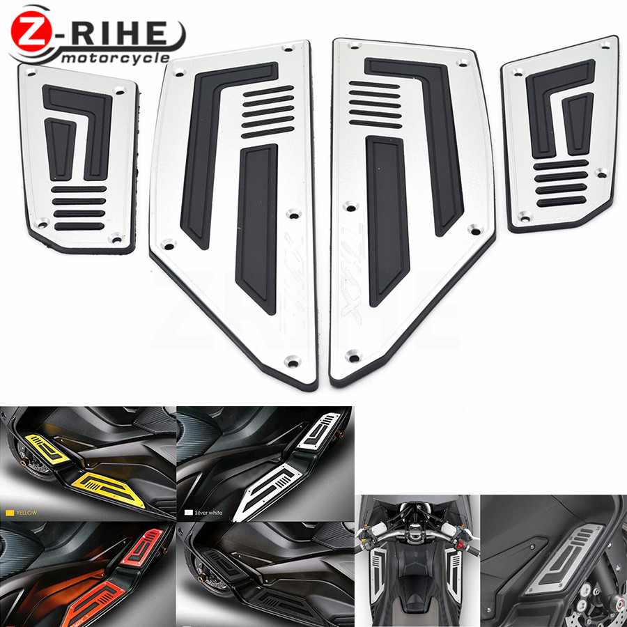 Motorcycle Footboard Steps Motorbike Foot For Yamaha TMAX 530 TMAX530 T-MAX 530 2012 2013 2014 2015 2016 12 13 14 15 16 cnc motorbike kickstand foot side stand extension pad support plate for yamaha t max tmax 530 2012 2013 2014 2015