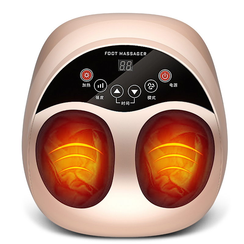 vibrating foot massager electric muscle therapy shiatsu roller massager device air pressure massage foot heat machine antistress electric foot massager foot massage machine for health care personal air pressure shiatsu infrared feet massager with heat 50030
