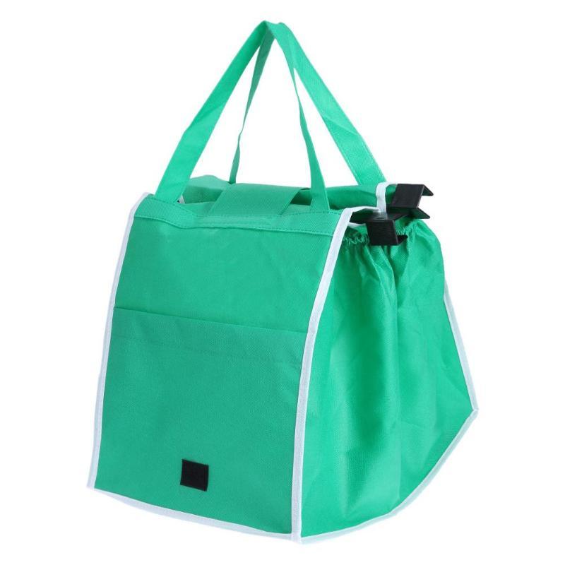 Складная тележка клип-тележки хозяйственные сумки Сумки Портативный многоразовая эко-сумка для хранения большой торговый организатор
