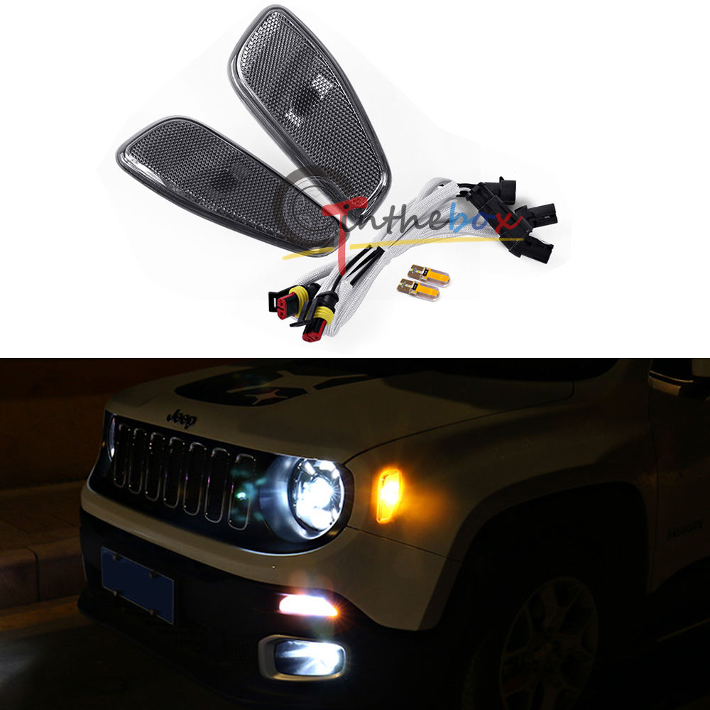 2x Ambra Marker laterale a LED Cover Update Kit lampade per for 15-up Jeep Renegade 10 50 meters pack 1m per piece led aluminum profile slim 1m with milky diffuse or clear cover for led strips
