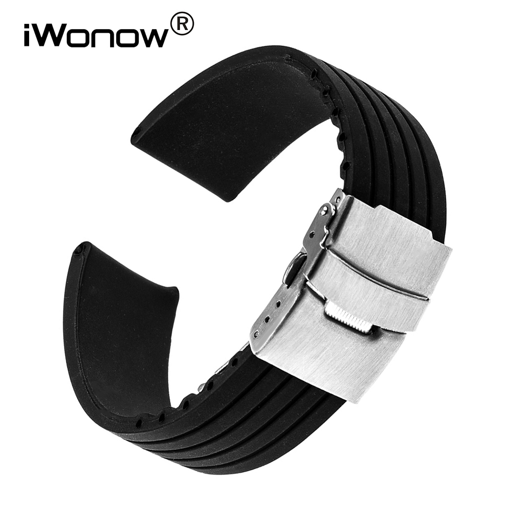 Silicone Rubber Watchband for Diesel DZ Fossil Armani Timex DW CK Watch Band Steel Buckle Wrist Strap 17 18 19 20 21 22 23 24mm