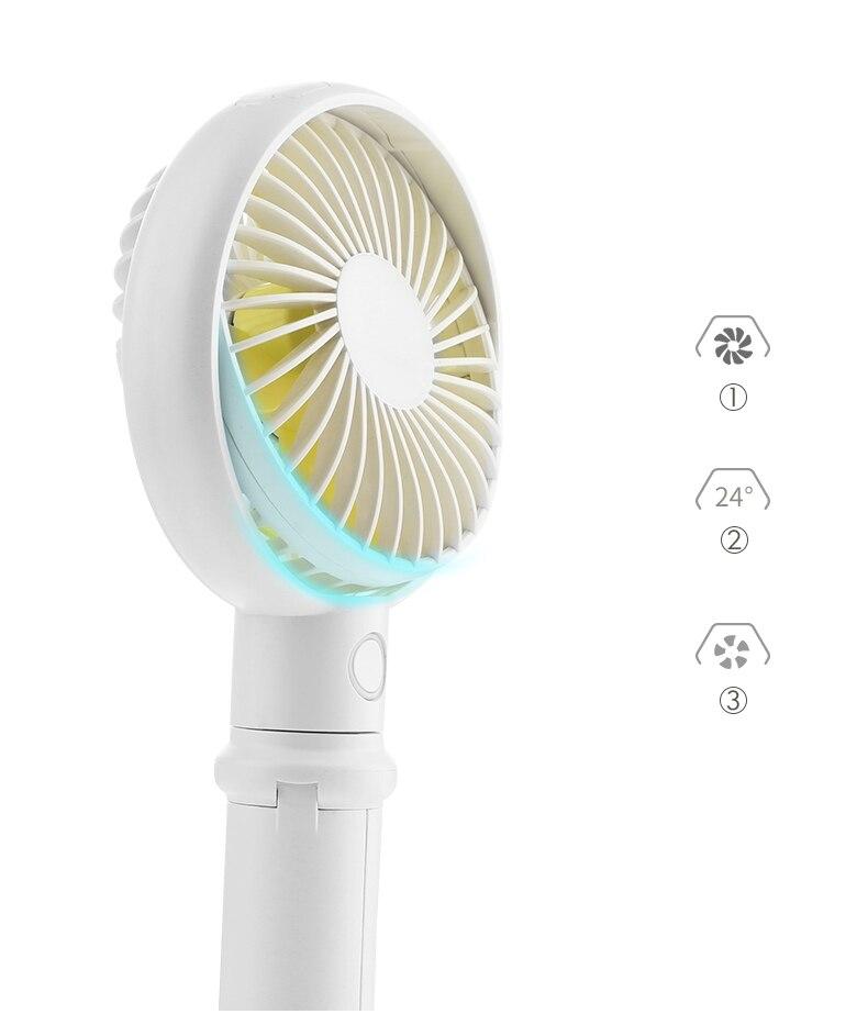 Mini Fan 3350Mah Rechargeable USB Fan Portable Handheld Fan 3 Speed Mini USB Handy Small Desktop USB Cooling Fan Cooler,White 3350Mah