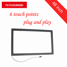 48 inch 6 touch points USB smart mirror touch screen panel IR touch frame without glass scn a5 flt15 0 z02 0h1 r 15 inch touch glass panel new
