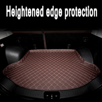 ZHAOYANHUA Custom fit Heightened side car Trunk mats for   Mercedes    SMART FORTWO FORFOUR