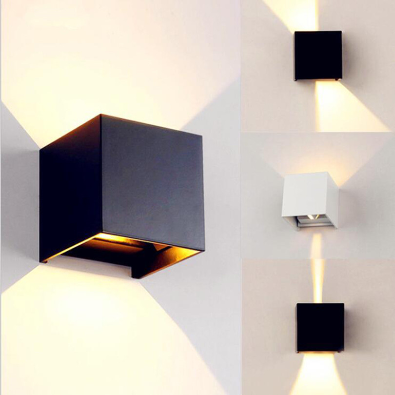 Outdoor Lighting Adaptable Surface Mounted Square 9w 12w 20w Cob Led Wall Lamps Brief Cube Adjustable Wall Light Dimmable 110v 220v Indoor&outdoor Lighting Catalogues Will Be Sent Upon Request