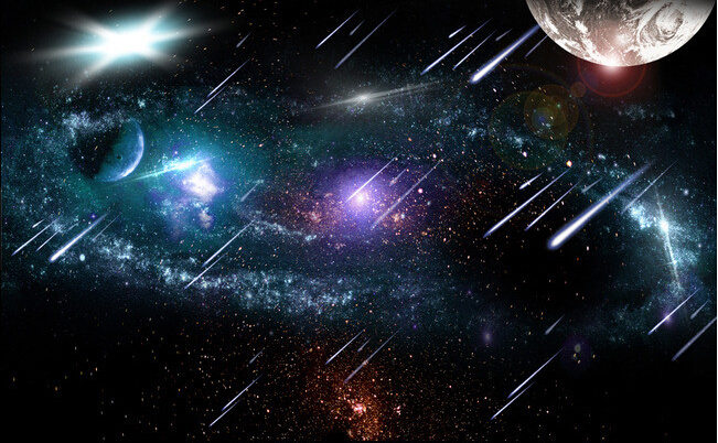 Custom Ceiling Wallpaper The Universe Star Meteor Murals For The