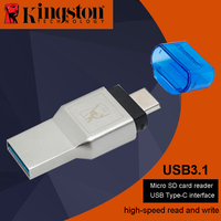 Kingston Micro SD Card Reader USB3 1 High Speed Dual Interface Supports Computers Type C Interfaces
