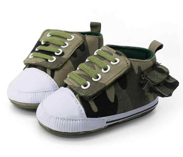 7557196d00561 2019 New style lace up camo Newborn baby boys shoes with side bag rubber  sole first