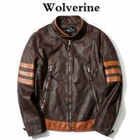 Men Leather Jacket Cosplay X Men Wolverines James Logan Jacket PU Motorcycle Jackets Male Coat Autumn Winter Clothing M-4XL