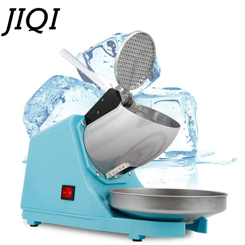 JIQI 65KG/H Electric Ice Crusher Smoothie Shaver Slush Ice Block Breaking Grinder Machine For Home Restaurant Bar 220V EU US
