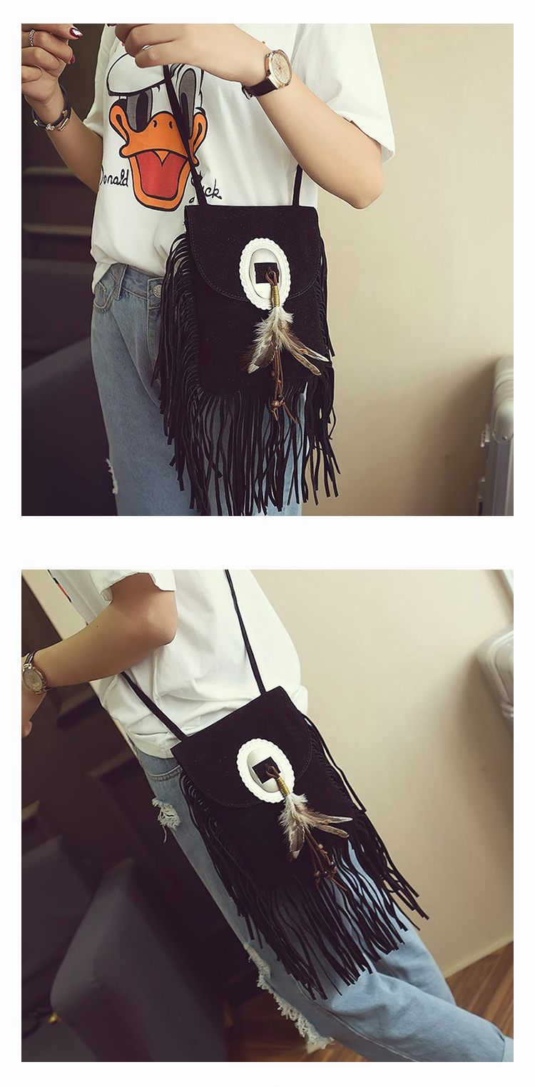 Female Small suede Bag Brown Beaded Feathers Hippie American Indian Tribal Bohemian Boho Chic Ibiza Style Pouch Bag (25)