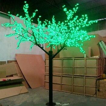 Envío gratis navidad vacaciones boda LED Cerezo flor árbol luz 960 piezas bombillas LED 2 m Altura 110/220VAC a prueba de lluvia