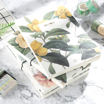 TUNACOCO Retro Floral Flower Schedule Notebook Diary Weekly Planner Blank Notebooks School Office Supplies Stationery bz1710035