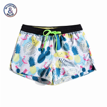 цена на Women Summer Shorts Casual Drawstring Waistband Pineapple print Beach Style Swim Pool with Pocket Plus Size Female Shorts