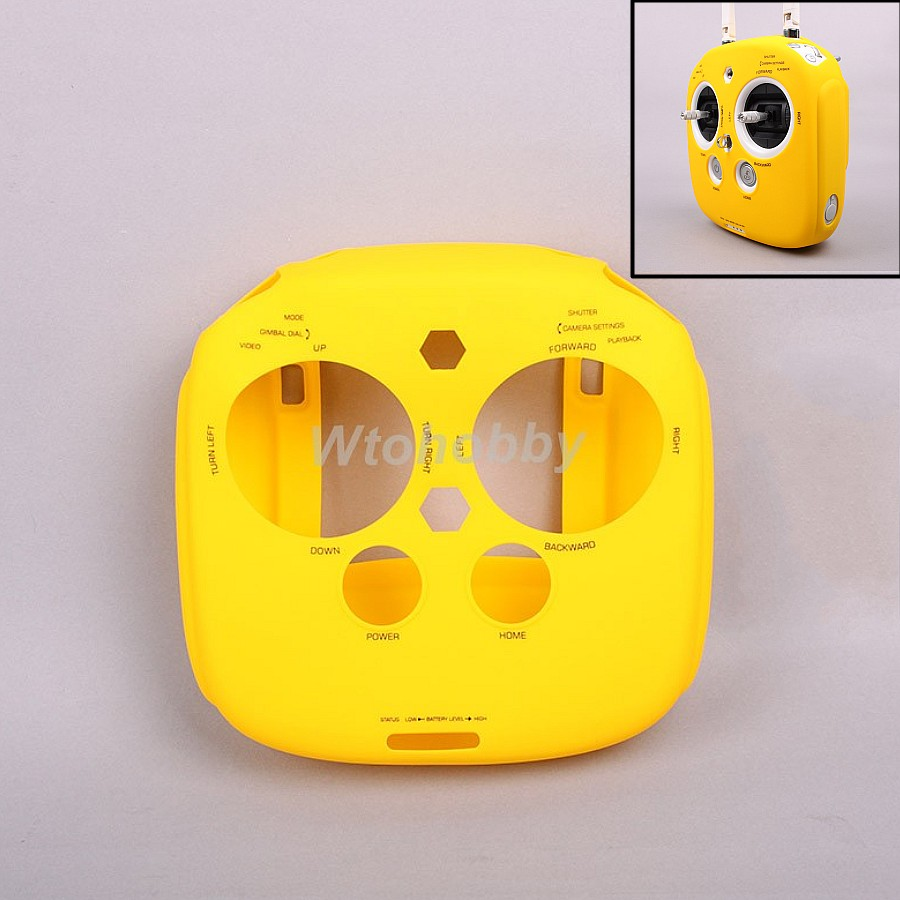 1Pc RC Parts Remote Controller Silicone Protective Cover Case for DJI Phantom 3 4 2 Inspire1 M100 Anti Slip Resistance Yellow