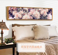 Diamond Embroidery Pink Peony 5D Diy Diamond Painting Cross Stitch Crystal Round Diamond Mosaic Pictures Home