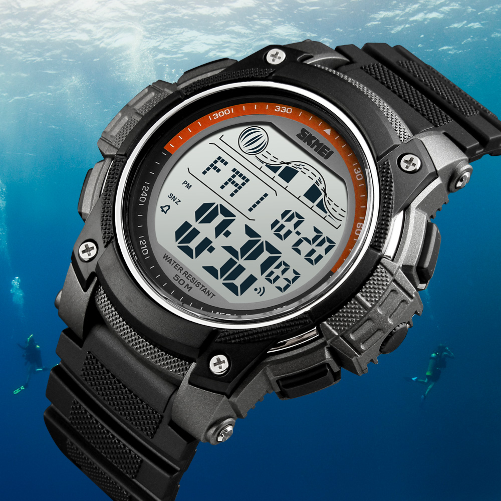 <font><b>Skmei</b></font> Hot Brand Mens Sports Watches Dive 50m Digital LED Military Watch Men Fashion Casual Electronics Wristwatches relogio image