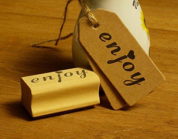 Profitez tampon en caoutchouc rubber stamp timbre en bois 2
