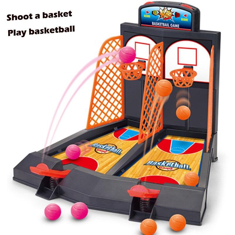 Mini-Basketball-Spiel Tischspiel Spielzeug Familie Sport Heim Spielzeug Basketball Schießmaschinen Kunststoff Büro Jouets Basketball Bälle