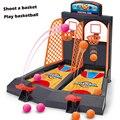 Mini jogo de basquete de mesa jogar toys toy bolas de basquete tiro máquinas de plástico do esporte da família em casa escritório jouets basquete