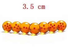 3.5 cm 1 Piece Dragon Ball 1 2 3 4 5 6 7 Stars Plastic Balls Japan Anime action figure toys Crystal ball Gift for Children