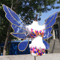 Красивые Крылья Бабочки современного рукоделия реквизит Бабочка Фея Ангел крылья Творческий Косплэй свадебные аксессуары