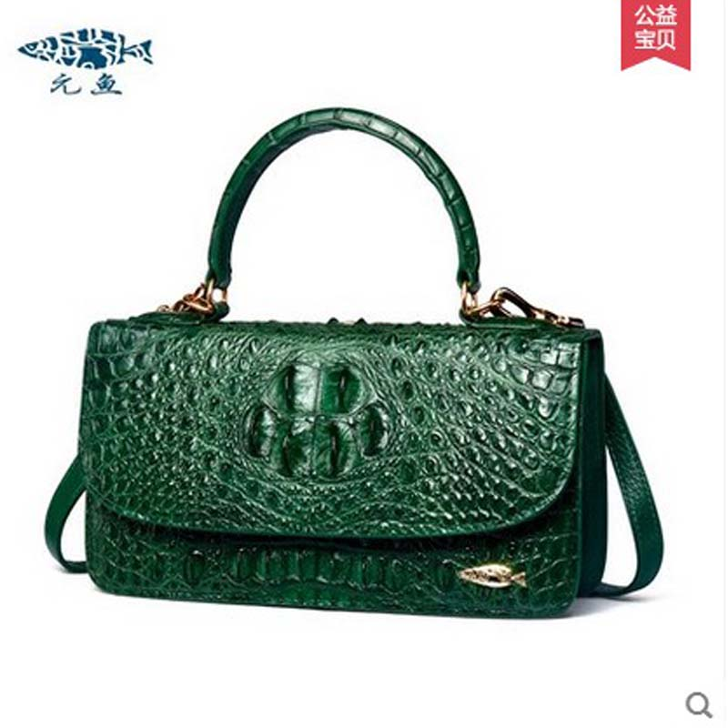 yuanyu 2018 new hot free shipping real Thailand crocodile handbag  real crocodile leather fashion casual women handbag yuanyu 2018 new hot free shipping fashion lady real crocodile skin bag imported caiman leather crocodile grain women handbag