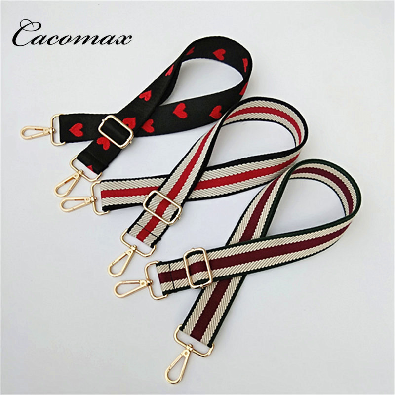 2018 Bag Strap Women Colorful Cotton Boho Chain Strap Belt For Shoulder Bag Convenient Handbag Accessories Handle Ornament E