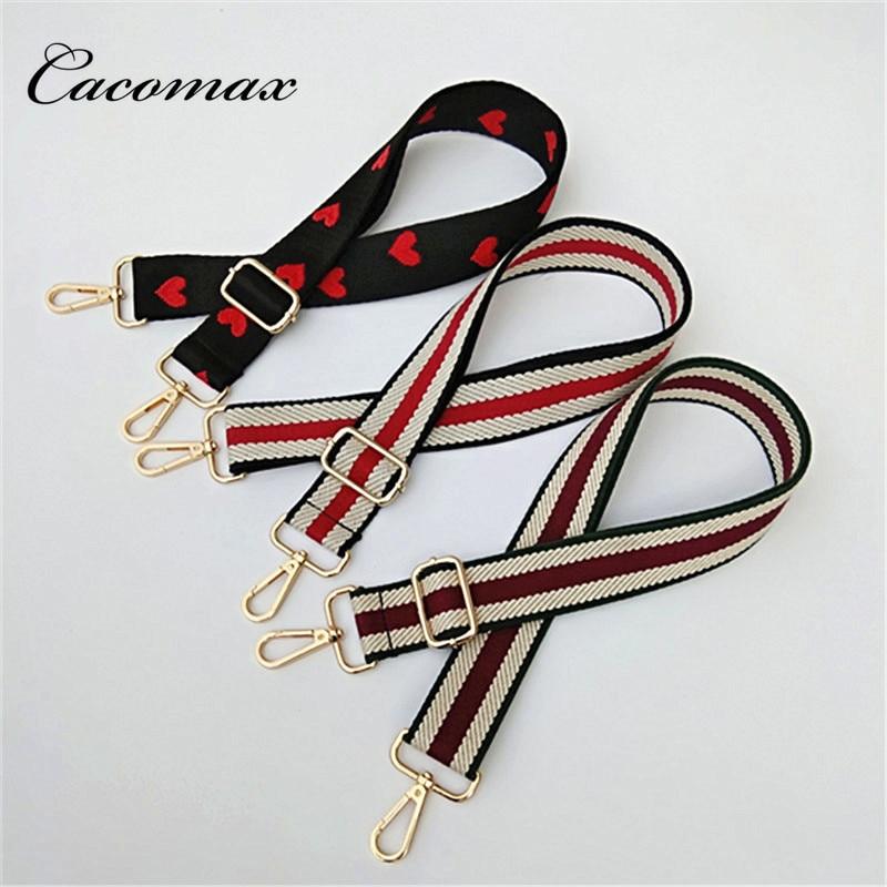 2018 Bag Strap Women Colorful Cotton Boho Chain Strap Belt For Shoulder Bag Convenient Handbag Accessories Handle Ornament E