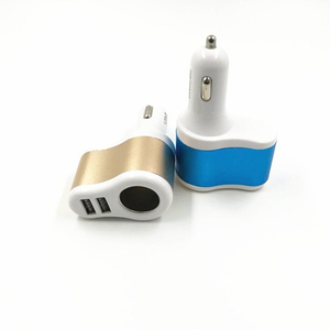 Image 2 - 3.1A Car Dual USB Charger Mobile Phone Car Charger Adapter With Indicate Light Cigarette Lighter Socket 12 24V