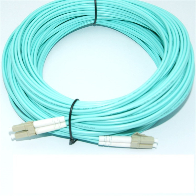 Free shipping 30 Meters LC LC Multi Mode OM3 Fiber Cable Multimode Duplex Fiber Optical Jumper Patch Cord