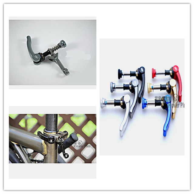 6 color folding bike seatpost clip hook ultra light gripper for brompton folding birdy parts