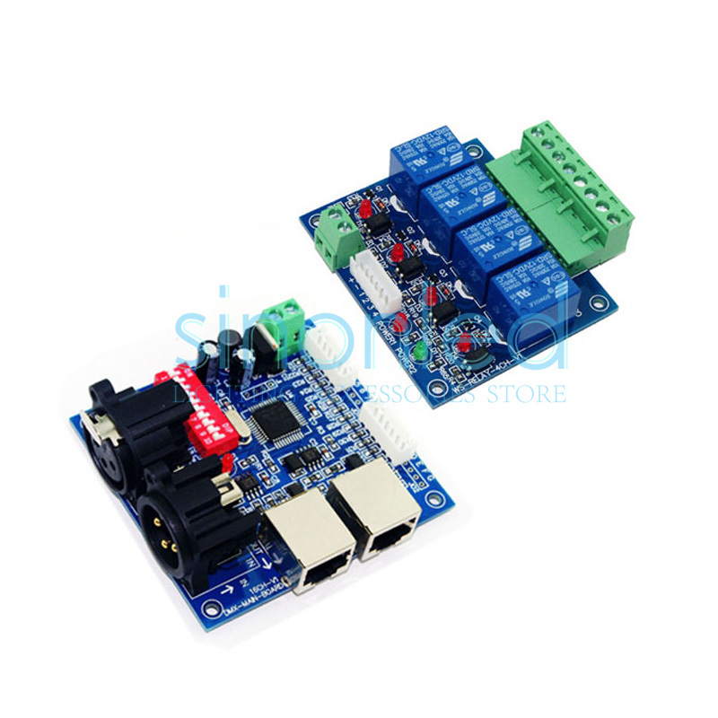 ФОТО 4CH Relay switch dmx512 Controller, relay output,DMX relay control,4way relay switch(max 10A)